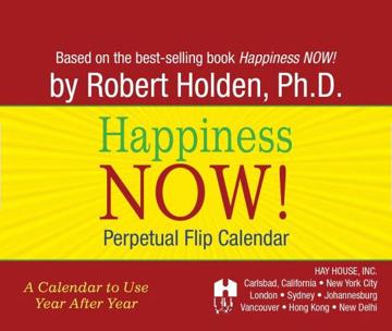 Bild på Happiness now perpetual calendar - perpetual flip calendar