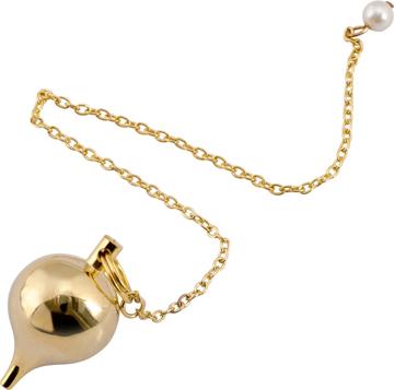Bild på Pendel: rund droppe – large (mässing)
