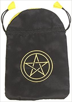Bild på Tarotpåse: pentagram (satäng)