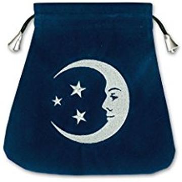 Bild på Tarotpåse: lycklig måne (sammet)
