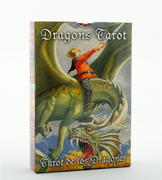 Bild på Dragons Tarot/Tarot de Los Dragones Cards [With Embroidered Velvet Bag]