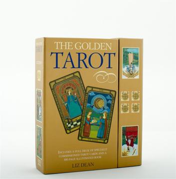 Bild på Golden Tarot (78-Card Deck & Book)