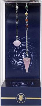 Bild på Premium Rose Quartz Chakra Pendulum