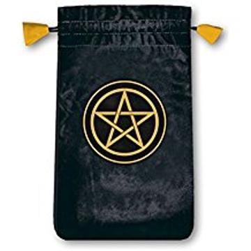 Bild på Tarotpåse liten: pentagram (sammet)