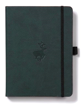 Bild på Dingbats* Wildlife A5+ Green Deer Notebook - Dotted