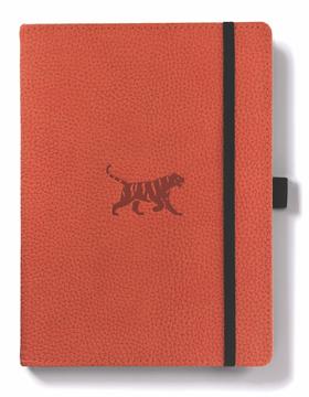 Bild på Dingbats* Wildlife A5+ Orange Tiger Notebook - Lined
