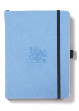 Bild på Dingbats* Earth A5+ Sky Blue Great Barrier Reef Notebook - Dotted