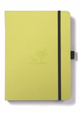 Bild på Dingbats* Earth A5+ Lime Yasuni Notebook - Dotted