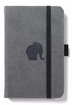 Bild på Dingbats* Wildlife A6 Pocket Grey Elephant Notebook - Dotted