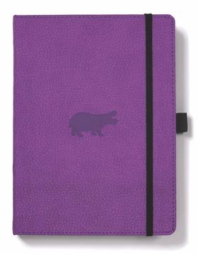 Bild på Dingbats* Wildlife A5+ Purple Hippo Notebook - Graph