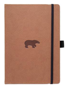 Bild på Dingbats* Wildlife A4+ Brown Bear Notebook - Graph