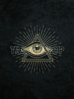 Bild på Allseeing Eye (30x40 cm) Black