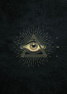 Bild på Allseeing Eye (50x70 cm) Black