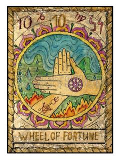 Bild på Mystic Wheel of Fortune (30x40 cm)