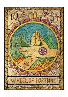 Bild på Mystic Wheel of Fortune (70x100 cm)