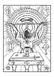 Bild på Engraved The Magician (21x30 cm)