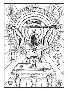 Bild på Engraved The Magician (30x40 cm)