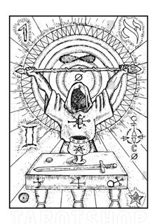 Bild på Engraved The Magician (70x100 cm)